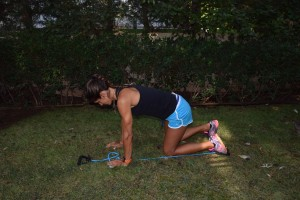 Resisted glute extension 1
